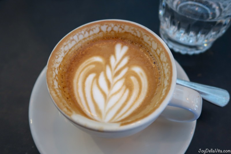 Black Betty ONA Coffee with Milk at The Cupping Room Canberra