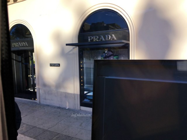 Palermo Airport Bus Stop at Politeama in front of Prada