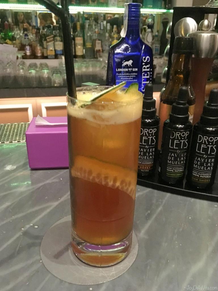 Pimm's Cup at Dry Bar at PREMIUM ROOM RIVER VIEW Hotel Maria Cristina San Sebastian Donostia