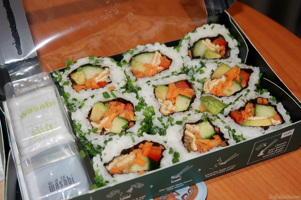 Vegan Veggie roll set Sushi Wasabi UK London test review