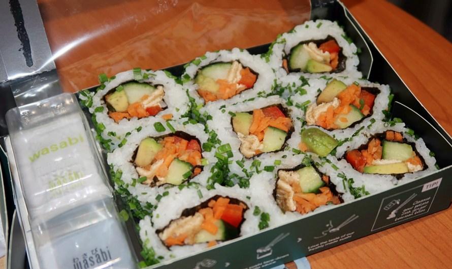 Vegan Veggie roll set Sushi by Wasabi UK in London