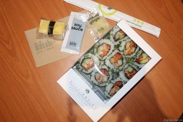 Vegan Veggie roll set Sushi Wasabi UK London test review