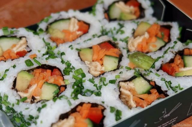 yum! Vegan Veggie roll set Sushi by Wasabi UK London