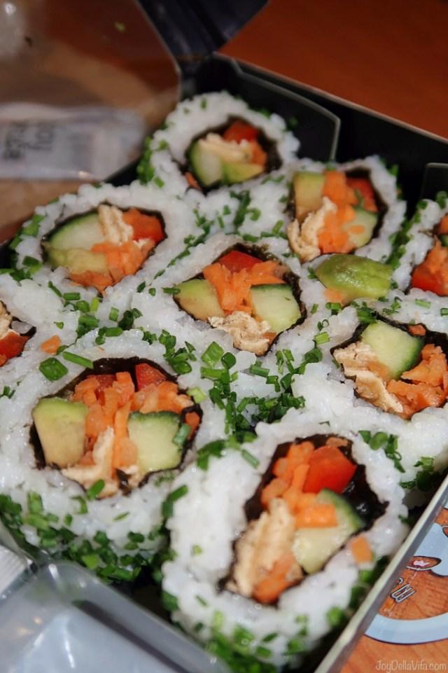 Vegan Veggie roll set sushi Wasabi UK London o2 review joydellavita