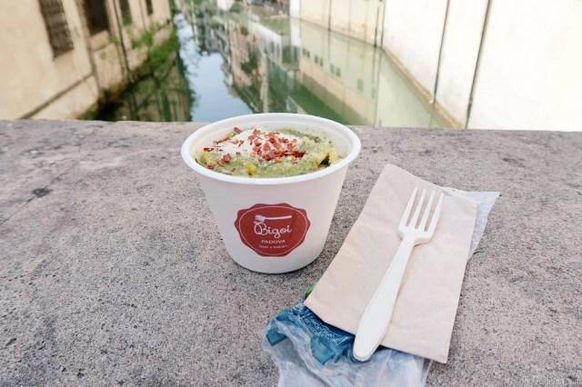 Bigoi Pasta Pesto Genovese green Pesto Padua Padova Fast Food Blog JoyDellaVita