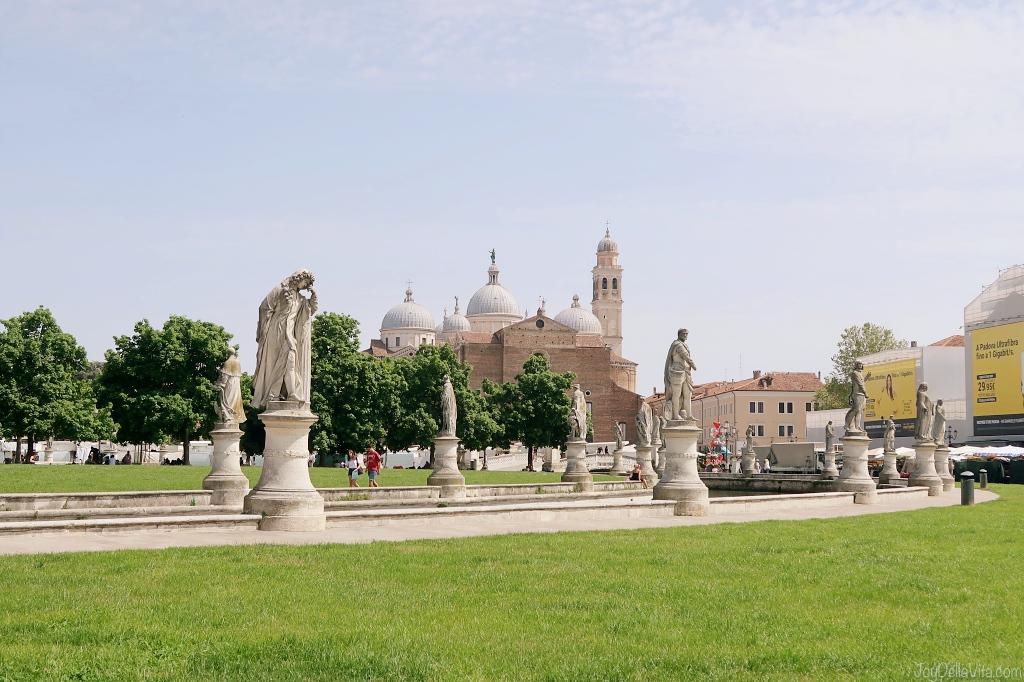 Prato della Valle with Basilica of Santa Giustina in the background