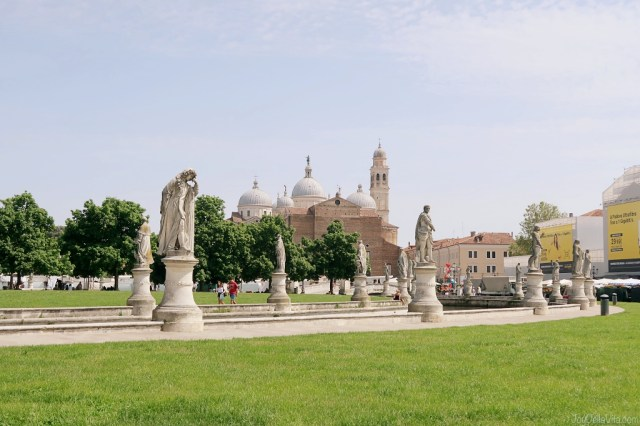 Prato della Valle with Basilica of Santa Giustina in the background