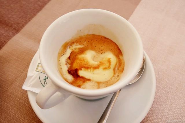 Affogatto - Caffé con pallina di gelato at Pasticceria Graziati
