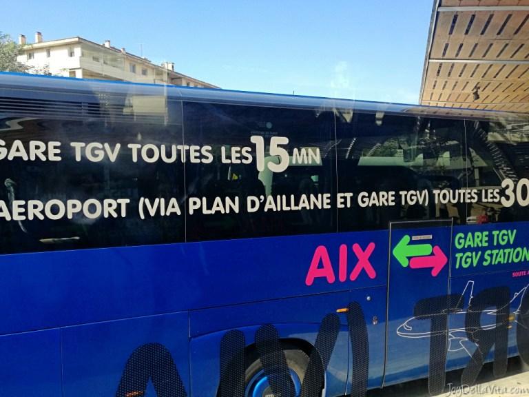 Shuttle bus from Train Station Gare TGV Aix-en-Provence to Aix City Centre
