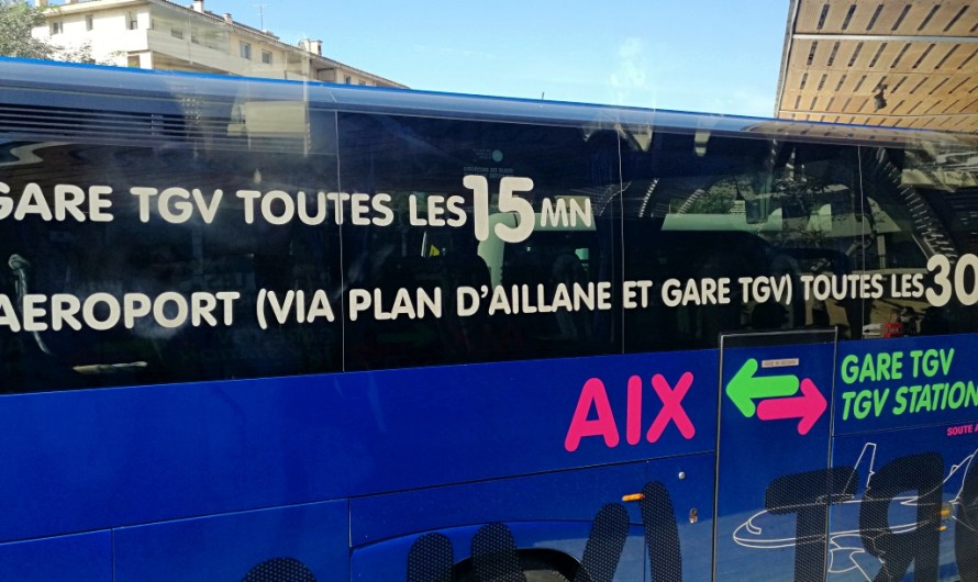 Shuttle bus from Train Station Gare TGV Aix-en-Provence to Aix City Centre