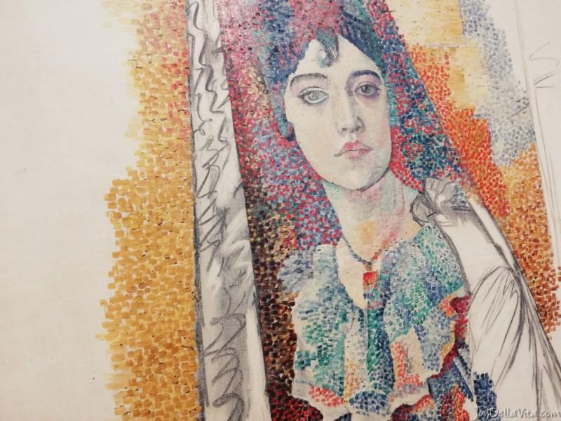 PABLO PICASSO Femme à la mantille (Fatma), 1917