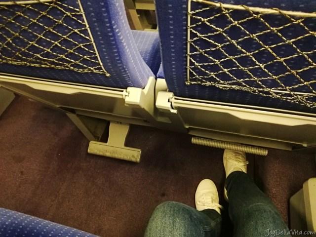 plenty of legroom in TGV 2nd class