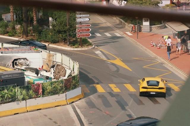 Carspotting Monaco Lamborghini yellow french travel blog