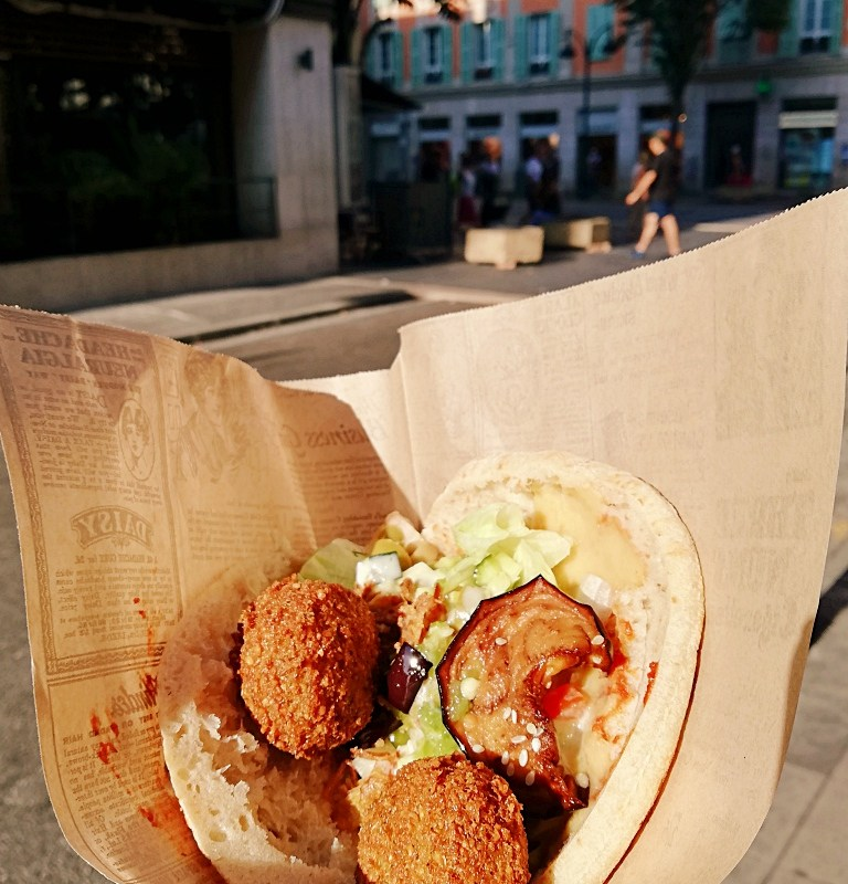 best Falafel in Nice - Nice Falafel Shop french travel blog