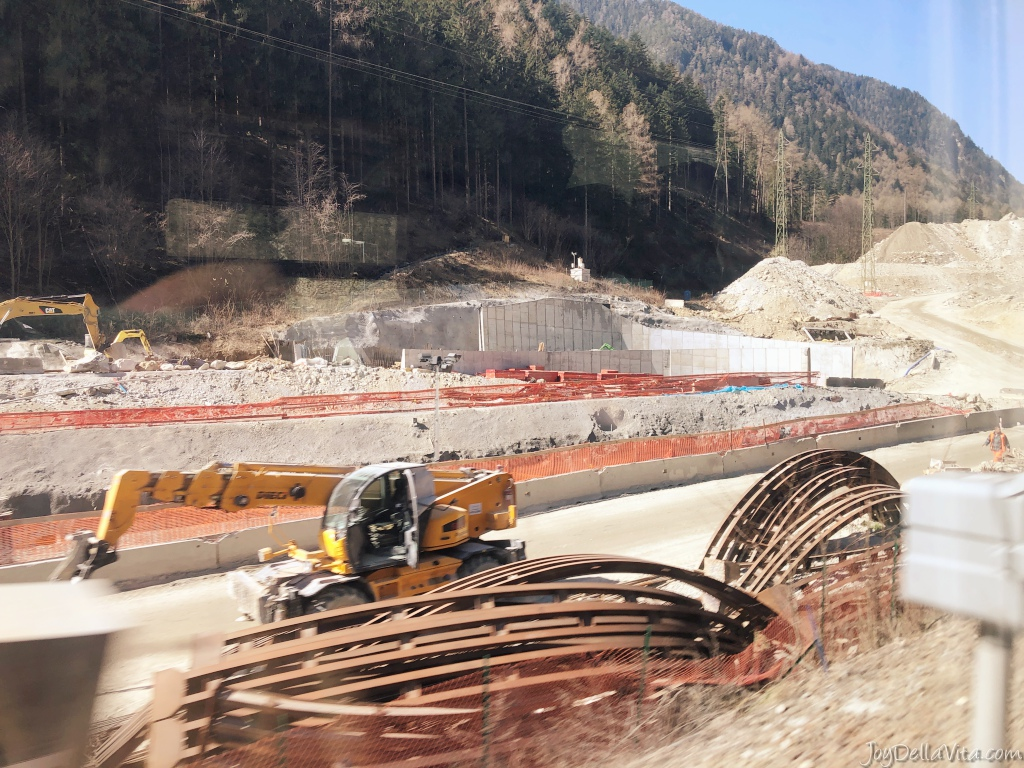 Construction of the Brenner Base Tunnel in Franzensfeste, South Tyrol