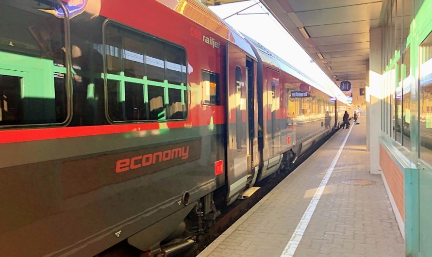 Travelling in ÖBB RailJet 2nd class economy in Austria from Bregenz to Innsbruck (Vorarlberg to Tyrol)
