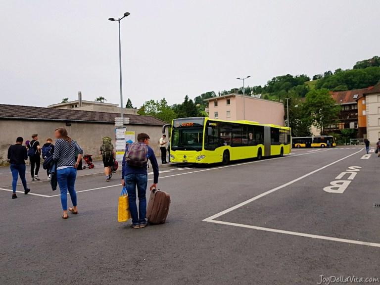 Taking the Bus from Feldkirch to Liechtenstein (Vaduz)
