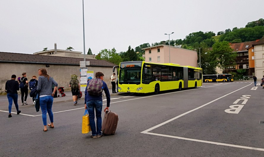Taking the Bus from Feldkirch to Liechtenstein (Vaduz)
