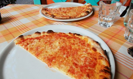 Pizza Margherita at Pizzeria Alba Riccione