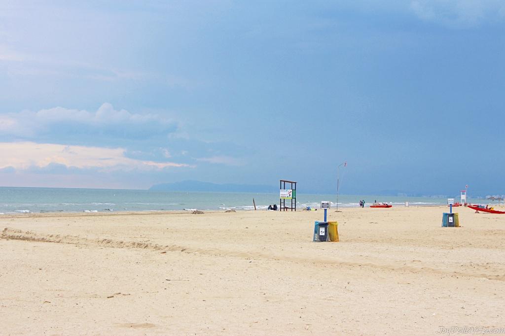 Rimini beach bad weather