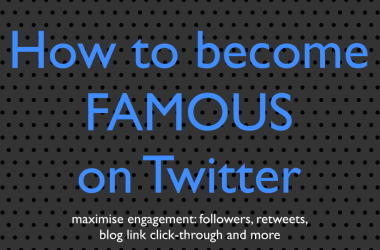 how to become famous on Twitter