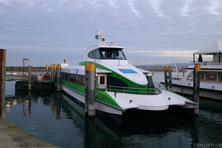 Taking the Catamaran from Friedrichshafen to Konstanz on Lake Constance