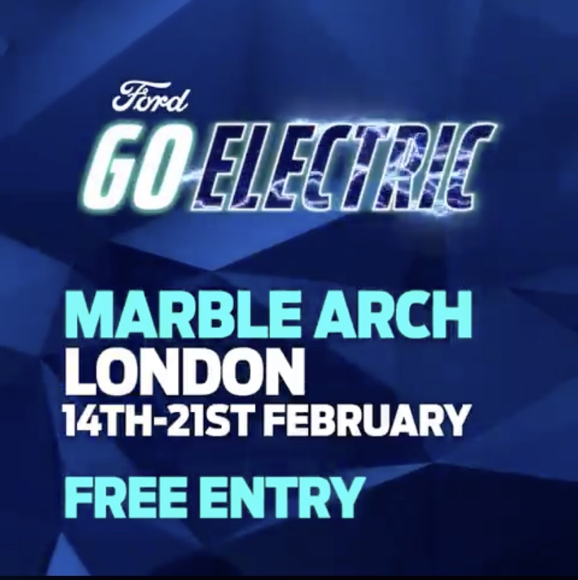 Mustang Mach-E Ford GoElectric Days in London in February 2020