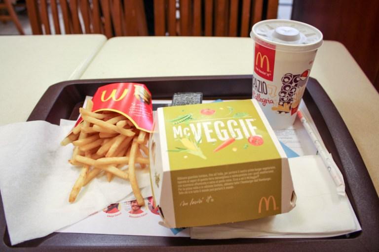 McDonalds Price List / Menu in Italy