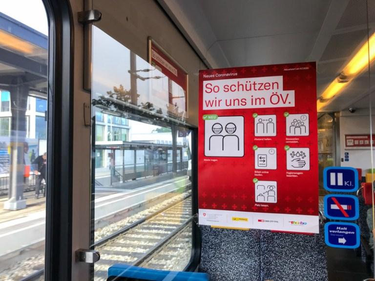 Rules for Train travel in Switzerland during the coronavirus pandemic