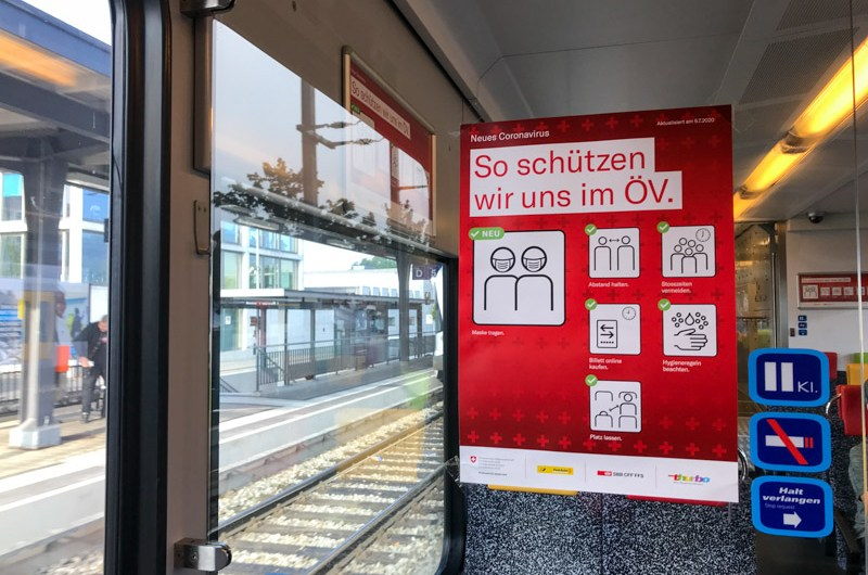 Rules for Train travel in Switzerland during the coronavirus pandemic