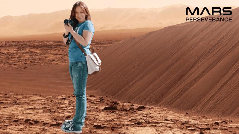 NASA Mars Perseverance Photo Booth Travelblogger Lisa JoyDellaVita