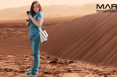 NASA Mars Perseverance Photo Booth Travelblogger Lisa JoyDellaVita