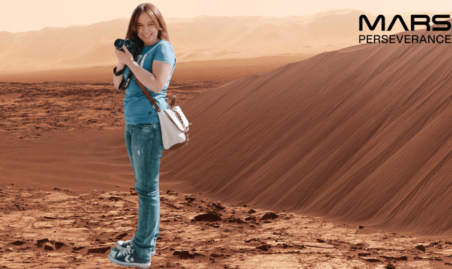 Step into NASA's virtual Perseverance Photo Booth and celebrate the landing on Mars