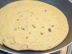 banana pancake in a pan