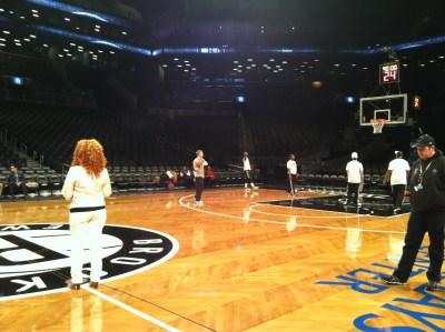 Joy Dennis performs National Anthem – NBA Nets vs Celtics