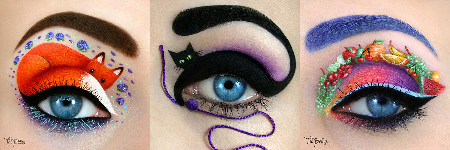 Tal Peleg Tells a Story with Amazing Eye Makeup Art