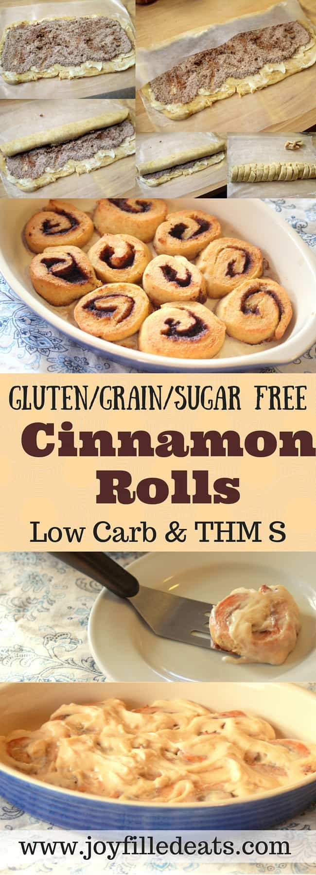 Gluten Free and Low Carb Cinnamon Rolls - These cinnamon rolls are perfect for lazy Sunday mornings. They have all the flavor without any sugar or grains. They are low carb and a THM S.