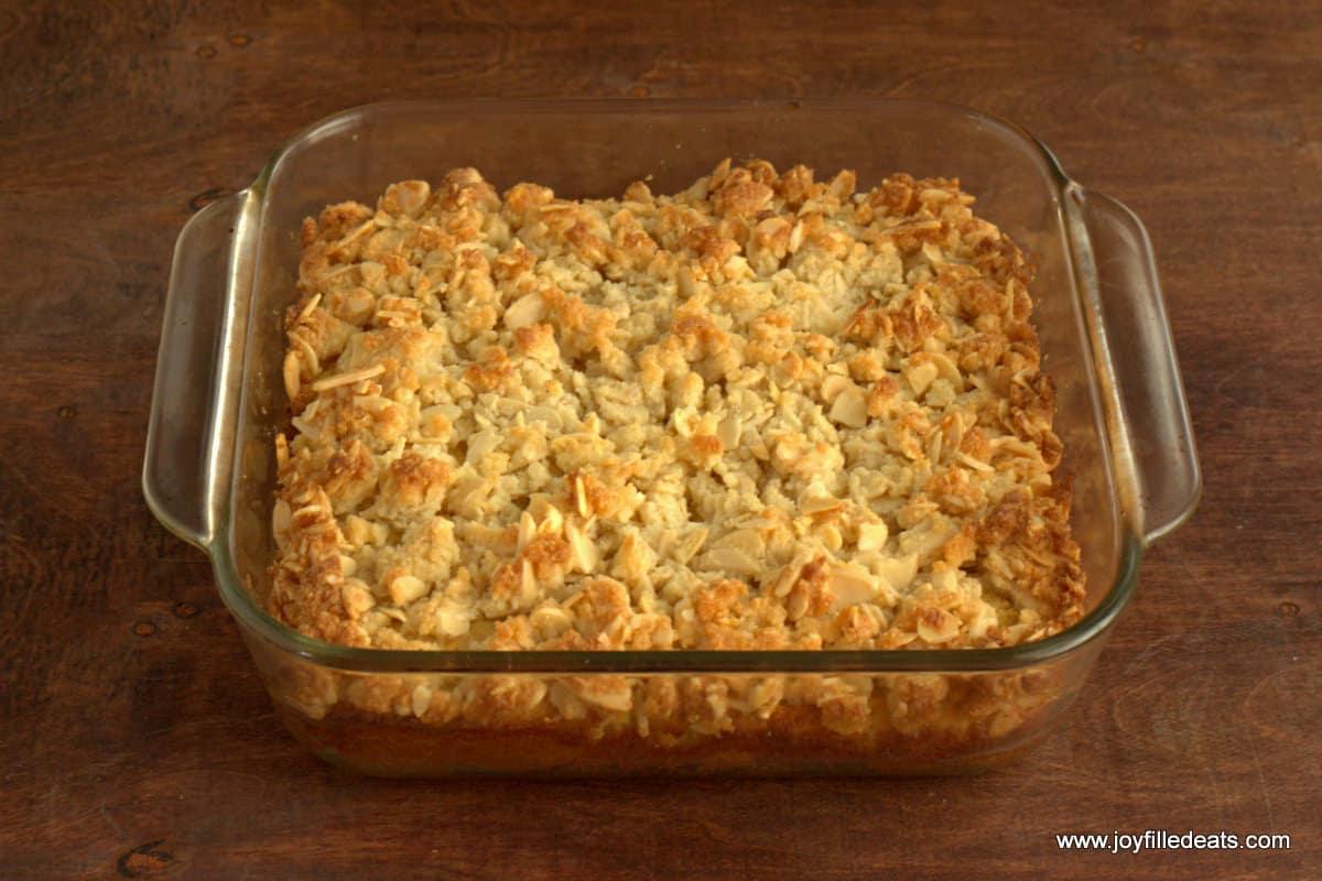 Almond Crumb Cake - Sugar Free, Low Carb, Gluten Free, Grain Free, THM S