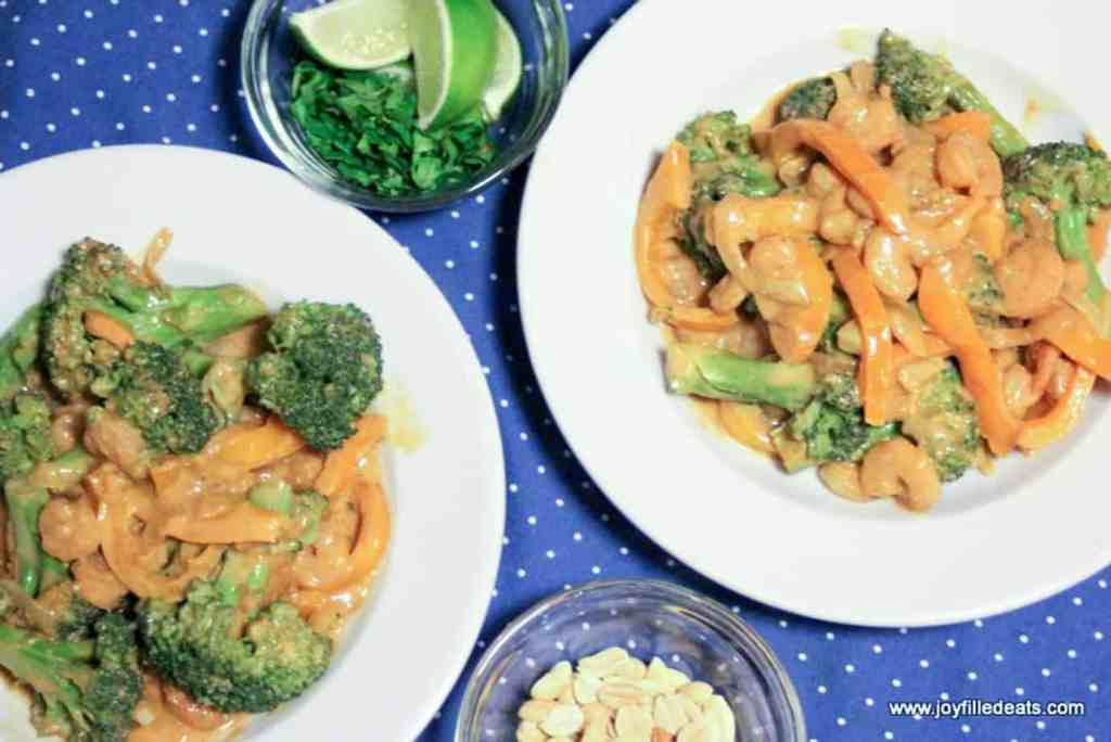 Thai Peanut Shrimp THM S, Grain Free, Gluten Free, Low Carb