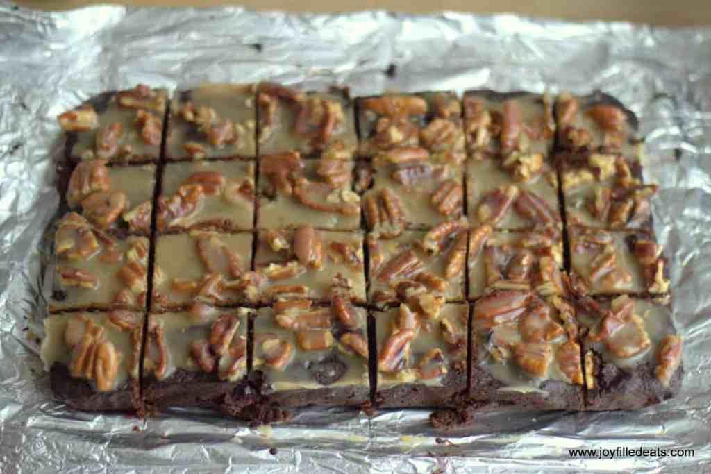 Pecan Praline Brownies - Low Carb, Gluten/Grain/Sugar Free, THM S