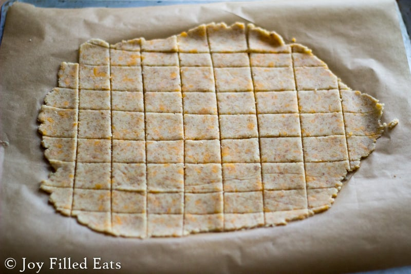 Baked Cheddar Crackers - Low Carb, Grain/Gluten/Egg Free, THM S