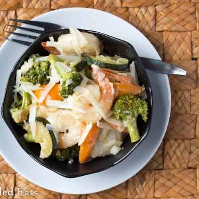 Creamy Shrimp Primavera – Low Carb & Gluten Free