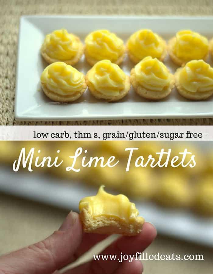 Mini Lime Tartlets - Low Carb, Grain-Gluten-Sugar Free, THM S