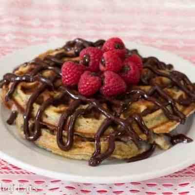 Chocolate Covered Raspberry Waffles