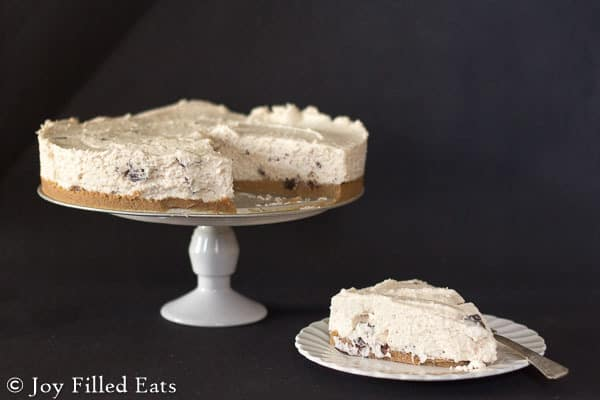 Cannoli Cheesecake - No Bake, Gluten Free, Sugar Free, Grain Free, THM S