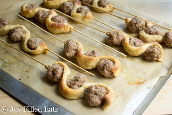 Meatball Sub Kabobs - Low Carb, Grain Free, THM S