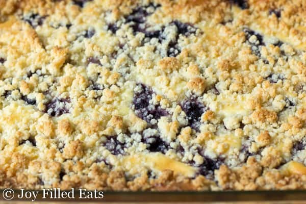 Lemon Blueberry Cheesecake Crumb Bars