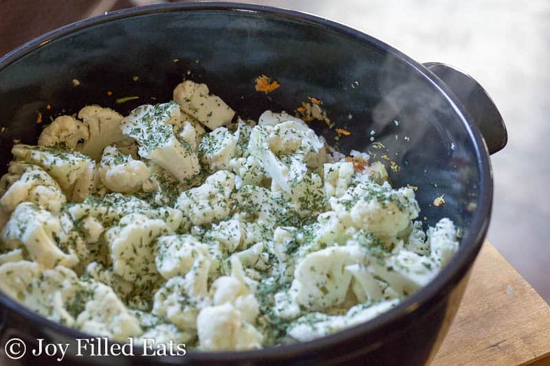 Creamy Cauliflower Soup - Low Carb, Grain Free, THM S