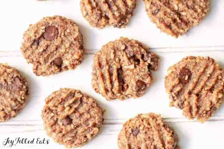 chocolate chip pecan cookies on white wood