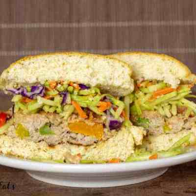 Asian Burgers with Broccoli Slaw – Low Carb, Keto